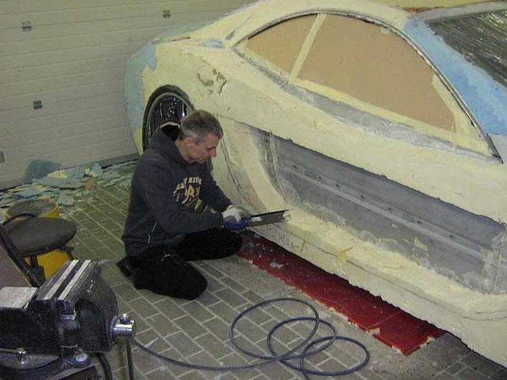 Scrapping a Mercedes CLK